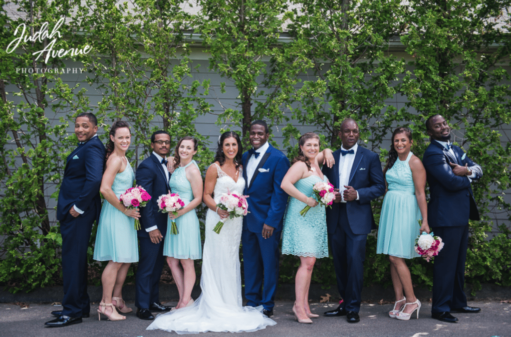 Navy and Mint Green Wedding