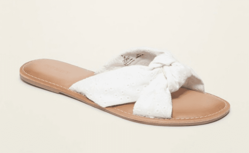 white tie sandal