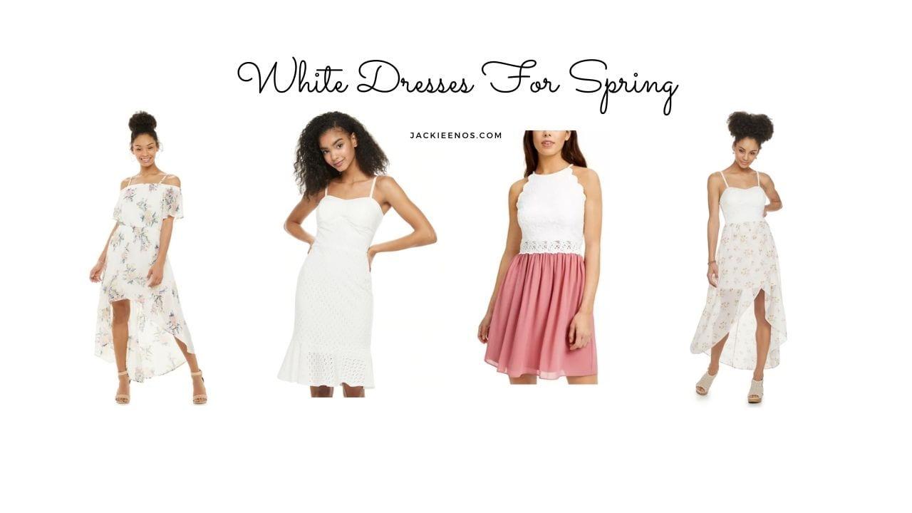 white dresses spring