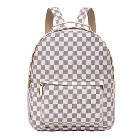 designer checkered backpack