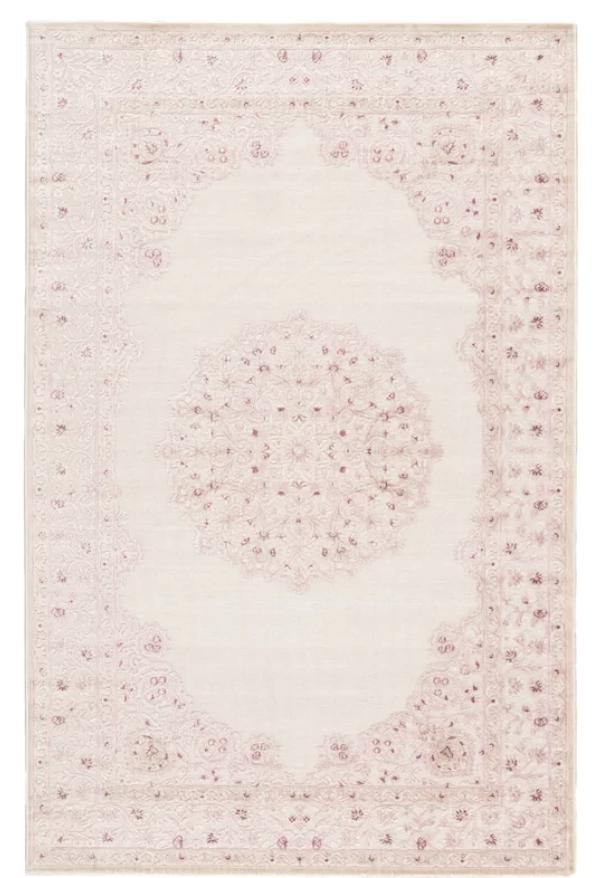 pink floral rug