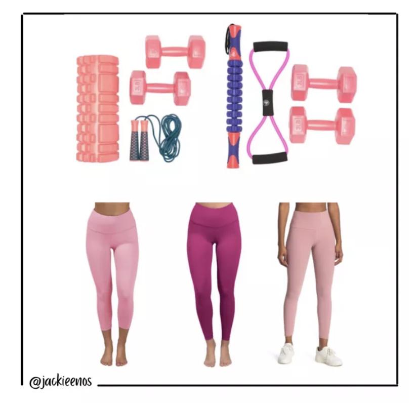 Pink workout gear