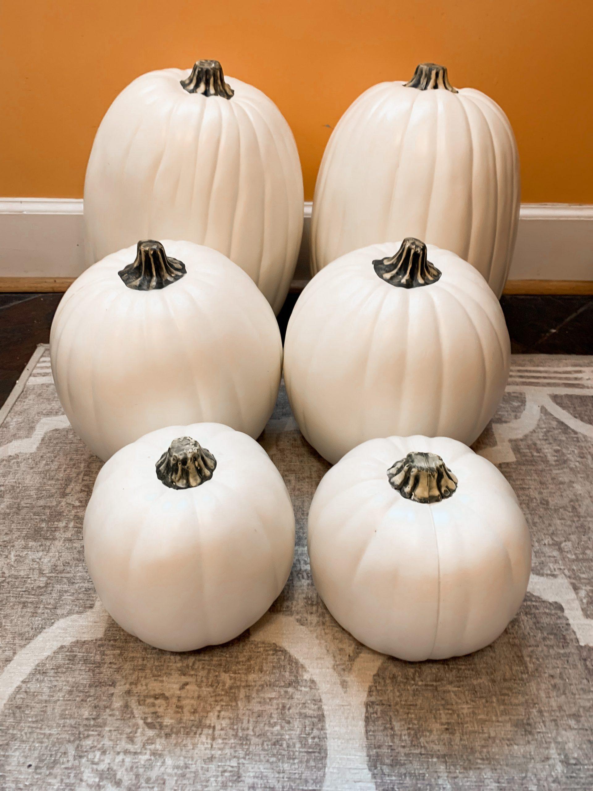 DIY faux pumpkins
